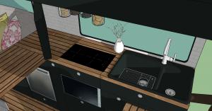 Küchenblock aus Ego-Perspektive
