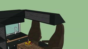 Alkovenstauraum über den Sitzen