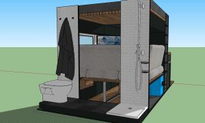 erweiterte Sitzecke vom Bad aus