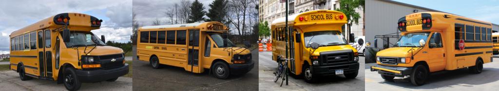 verschiedene Modelle von Short Buses