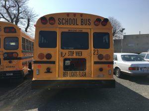 School Bus Exterior Back